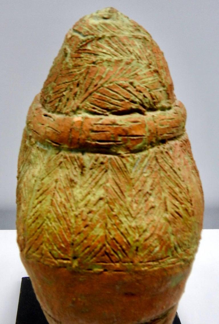 Terracotta Sculpture of Head Thailand For Sale 1