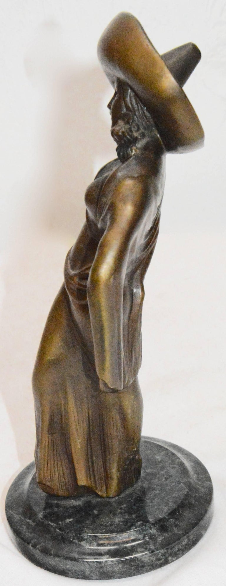 art deco chiparus bronze statue of lady for sale at 1stdibs. Black Bedroom Furniture Sets. Home Design Ideas