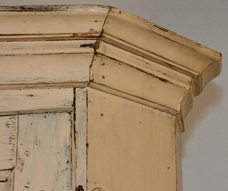 Metalwork 1790's Gustavian Corner Cupboard For Sale