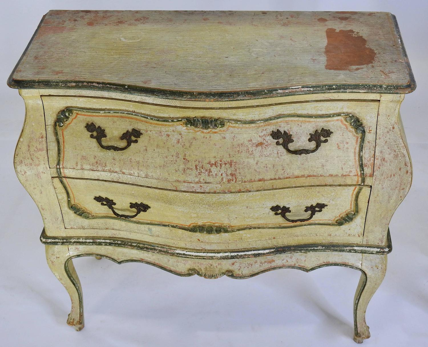Pair of hand painted italian bombay chests for sale at 1stdibs for Hand painted chests