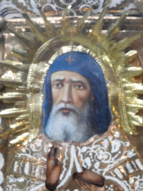 Foil Greek Orthodox Icon of St Anthony For Sale