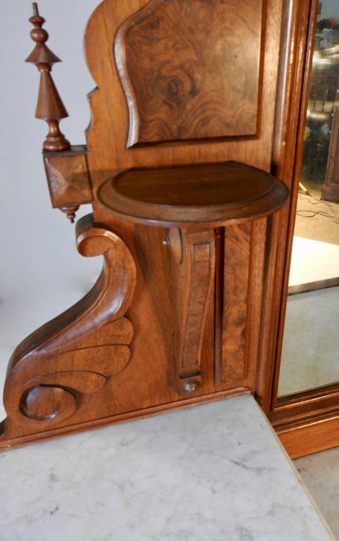 Mirror Victorian Gentleman's Dresser with Marble Tops For Sale