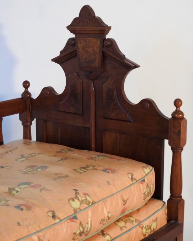 Hand-Crafted Victorian Childs Bed For Sale