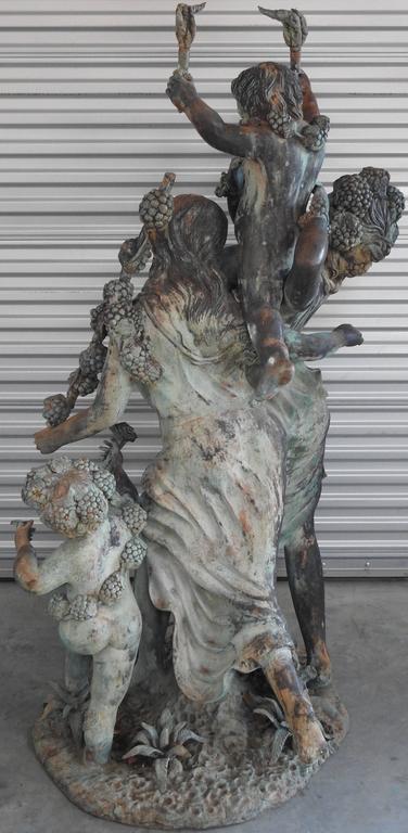 Art Deco Italian Bronze with Women and Children For Sale 2
