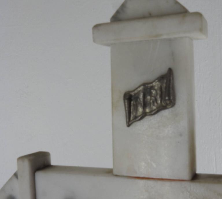 Renaissance Marble INRI Crucifix, Late 19th Century
