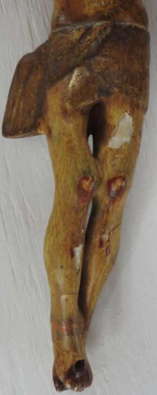 Hand-Crafted Italian Polychromed Crucifix For Sale