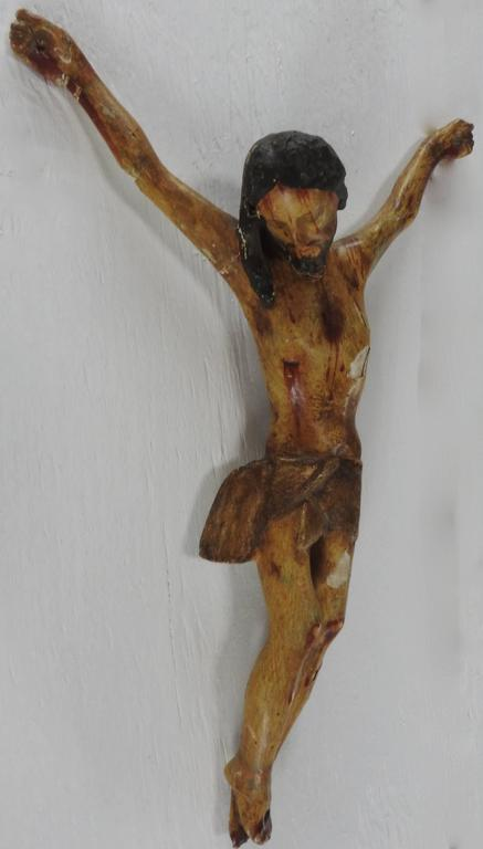 18th Century Italian Polychromed Crucifix For Sale