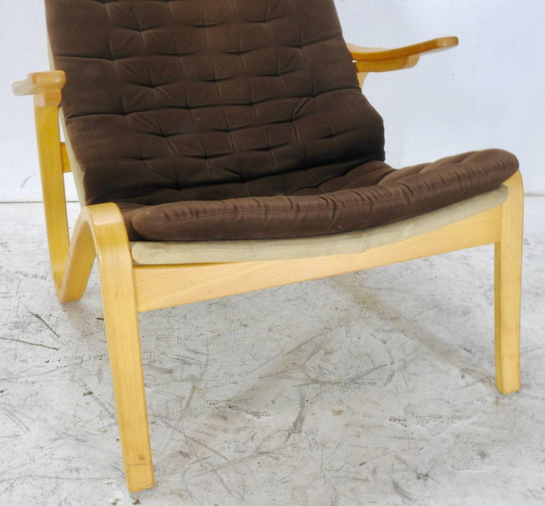 Danish Modern Lounge Chair by DUX In Good Condition For Sale In Cookeville, TN