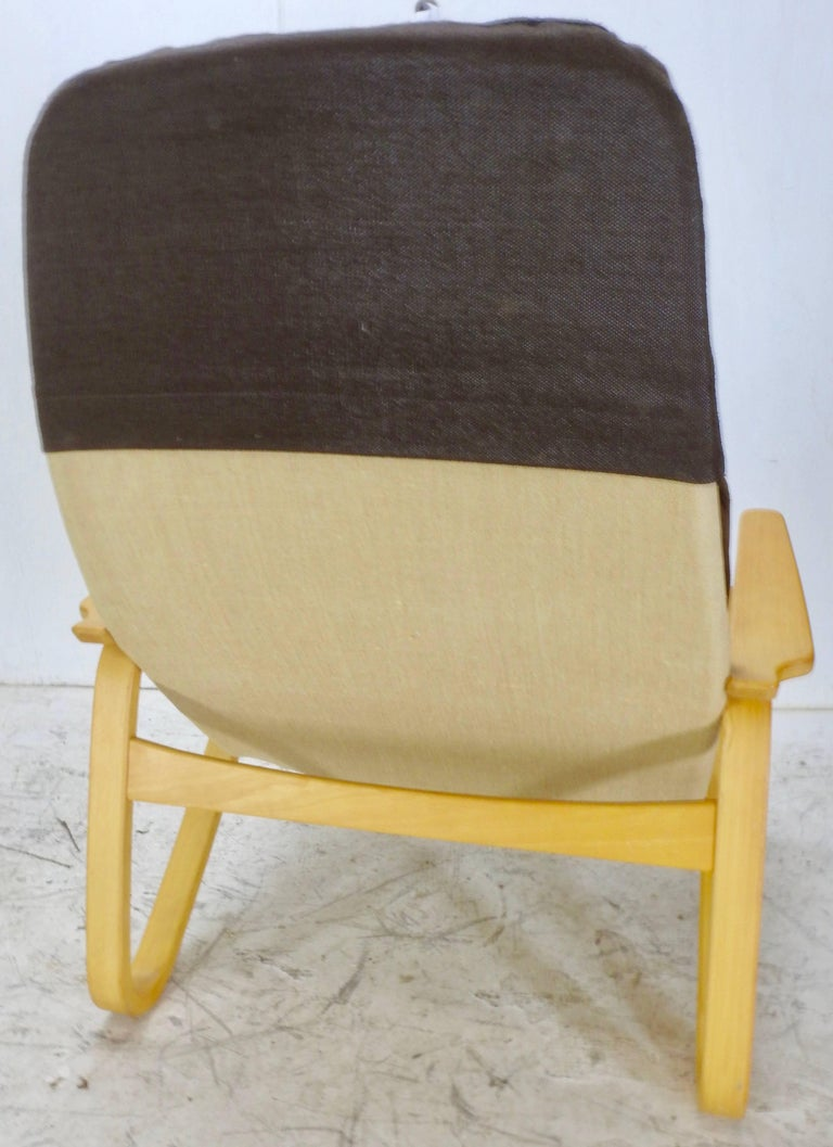Fabric Danish Modern Lounge Chair by DUX For Sale