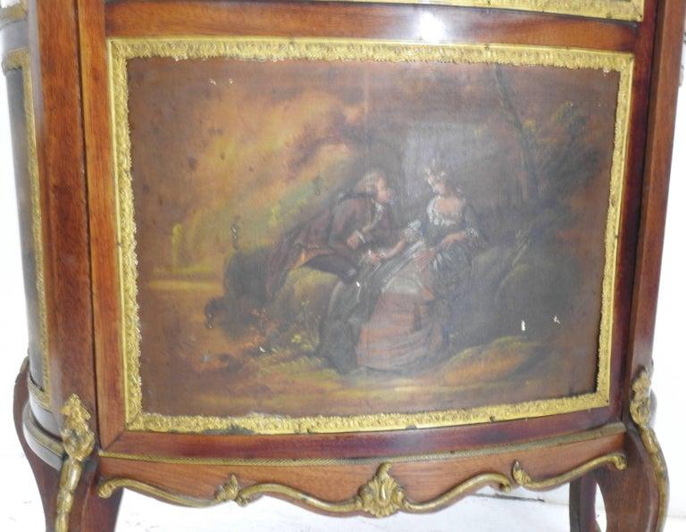 Glazed 19th Century French Vitrine with Ormolu For Sale