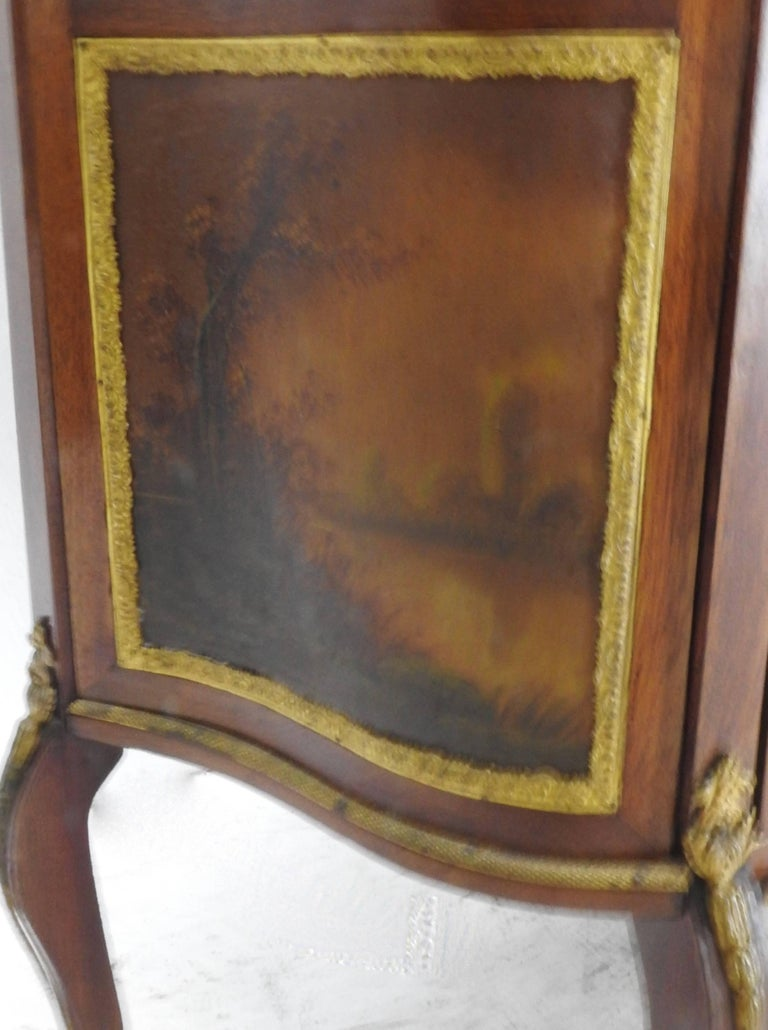 Bronze 19th Century French Vitrine with Ormolu For Sale