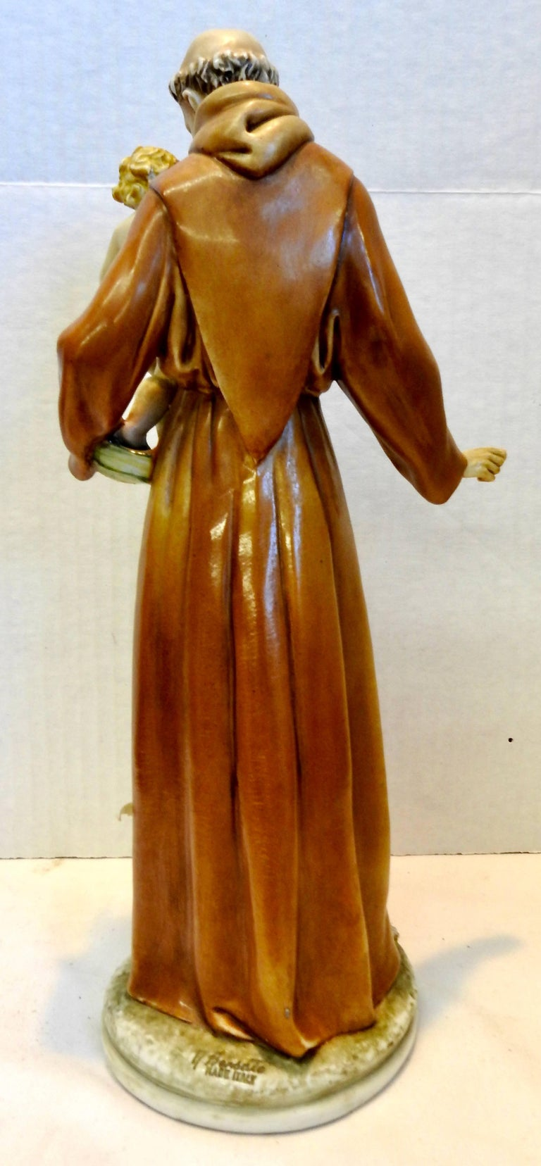 Glazed Midcentury Porcelain Saint Anthony by Antonia Borsato For Sale