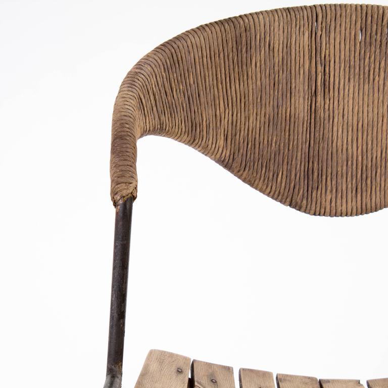 Mid-century Modern Wooden Bar Stool by Arthur Umanoff, 1960 6