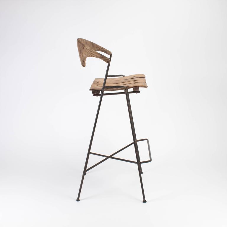 Mid-century Modern Wooden Bar Stool by Arthur Umanoff, 1960 3