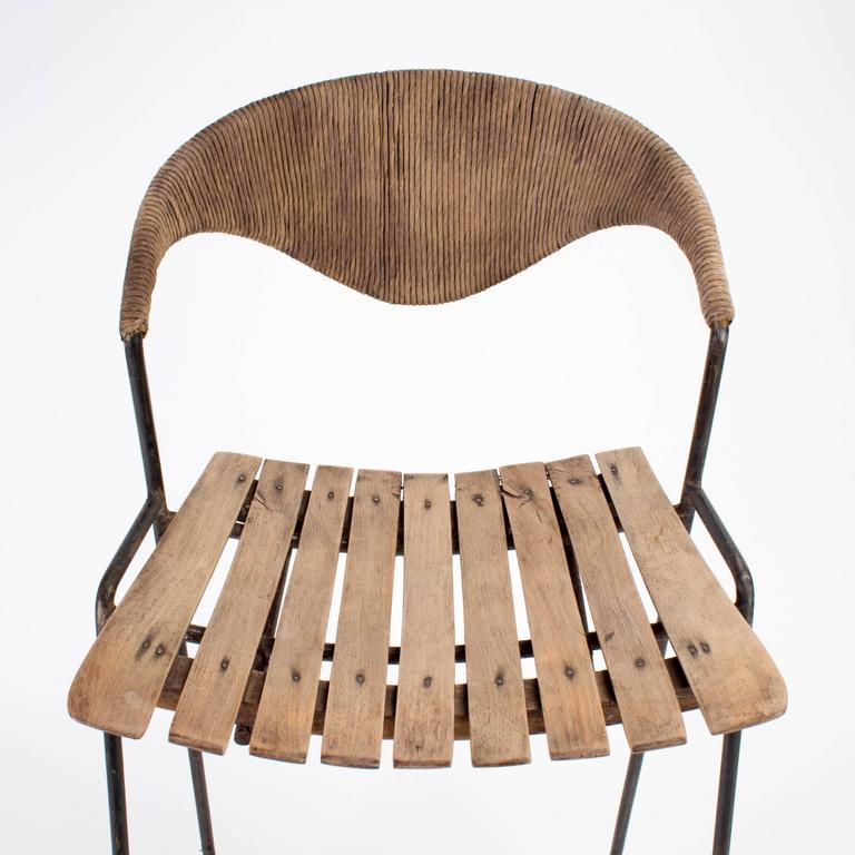 Mid-century Modern Wooden Bar Stool by Arthur Umanoff, 1960 5