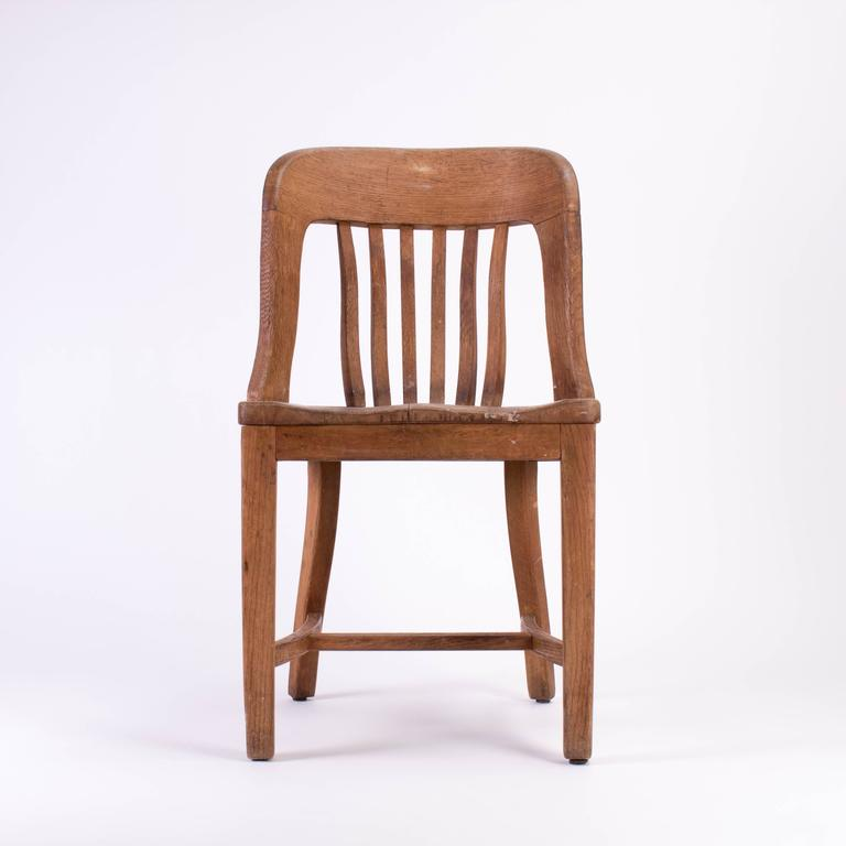 Wood Chair With Number 315 On The Back Of Seat Most Likely A Waiting