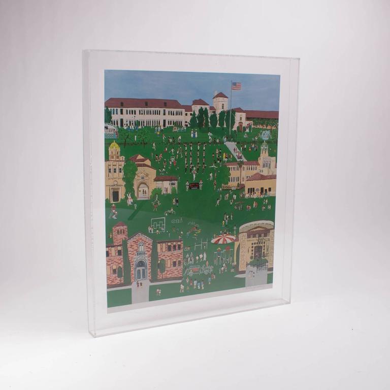 Marlene Zimmerman limited edition 1/4 print, Hollywood high, plexiglass wall piece.