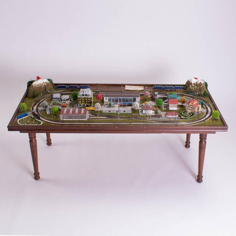 Merklin train set table under perspex cover for sale at 1stdibs Train table coffee table