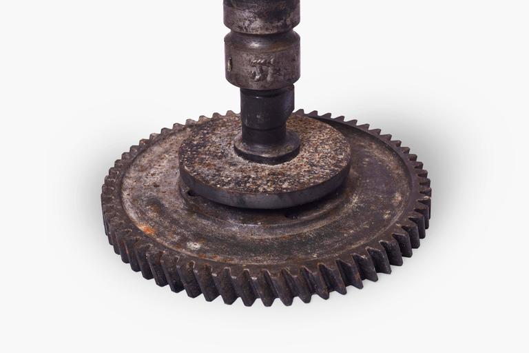 Brutalist Iron Gear Candleholder 2