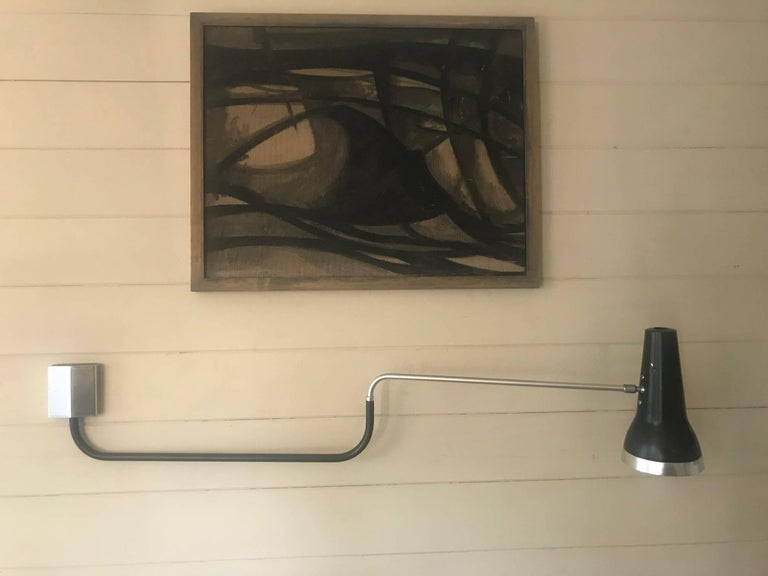 Mid-Century Modern Swing Arm Wall Light, English, circa 1960s For Sale