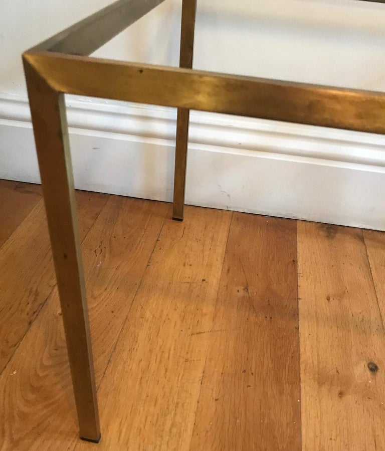 Pair of French 1970s Gilt Metal Tables For Sale 12