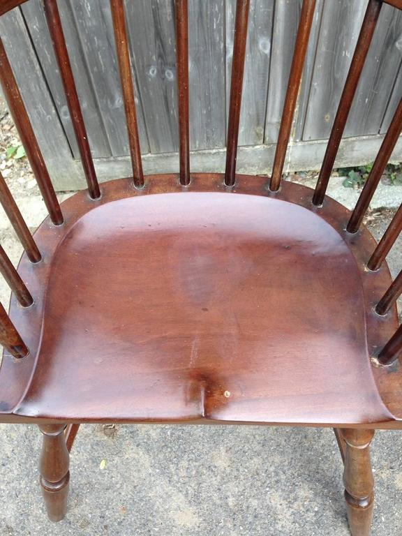 Pair of Rare Windsor Jamaican Comb Back Mahogany Chairs, circa 1820s For Sale 1