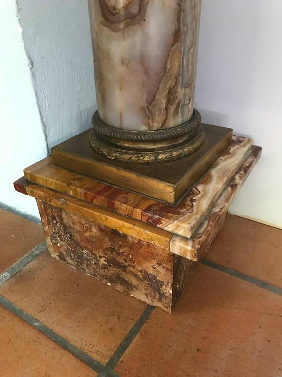 Marble Pedestal Column with Ormolu Mounts, Italian, circa 1900 For Sale 2