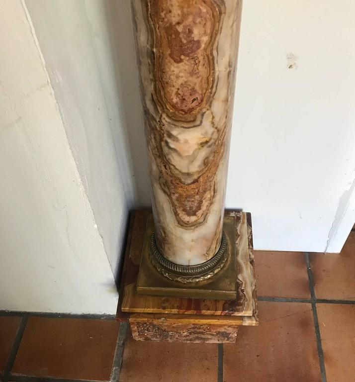 Marble Pedestal Column with Ormolu Mounts, Italian, circa 1900 In Excellent Condition For Sale In London, GB