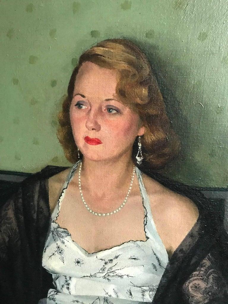 Edwardian Edwin Greenman, Royal Society of Portrait artists, Oil on Canvas