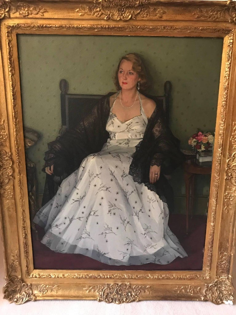 Paint Edwin Greenman, Royal Society of Portrait artists, Oil on Canvas