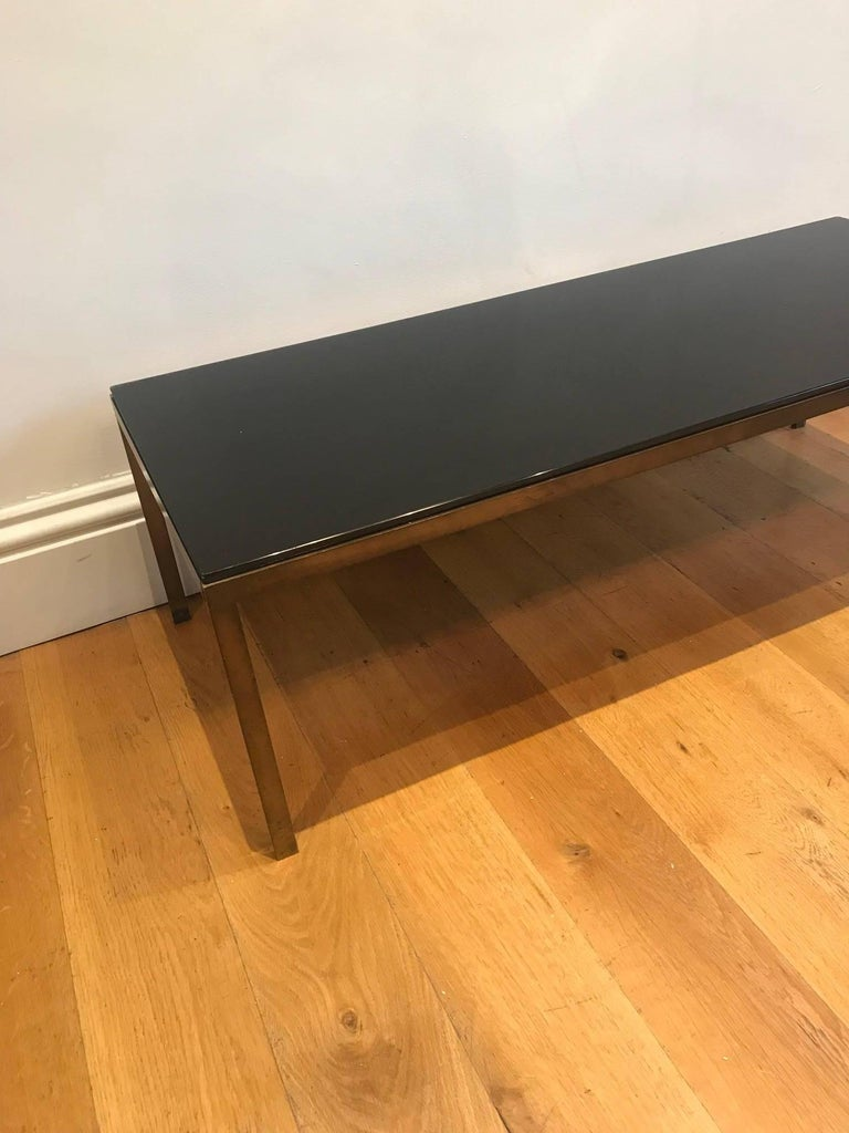 French 1950's bronze and glass coffee table For Sale 1