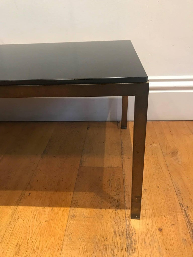 French 1950's bronze and glass coffee table In Good Condition For Sale In London, GB