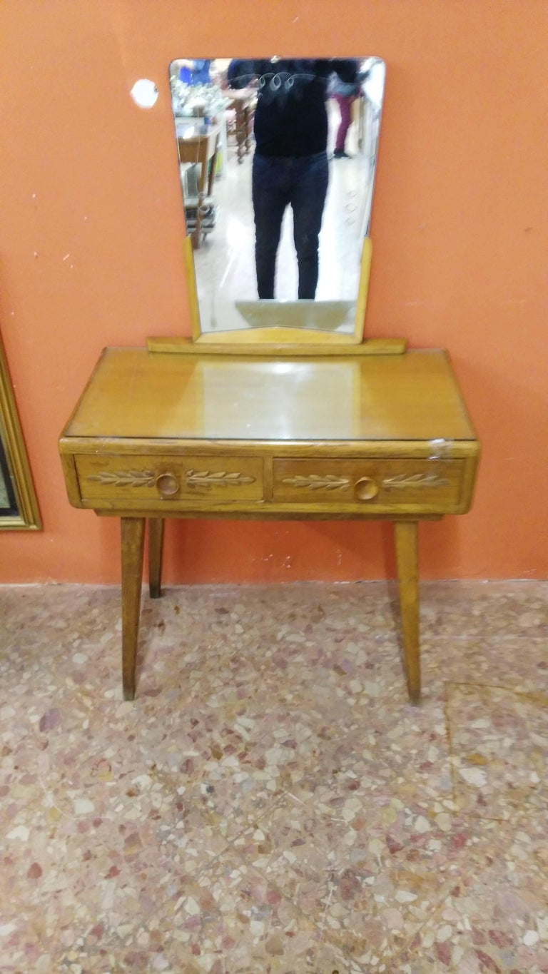 Mid-Century Modern Paolo Buffa Toilet with Mirror For Sale