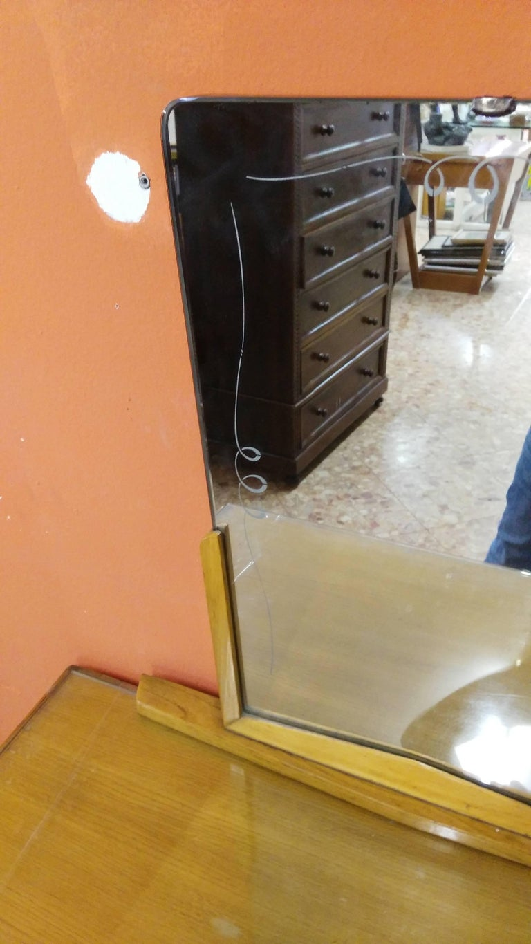Softwood Paolo Buffa Toilet with Mirror For Sale