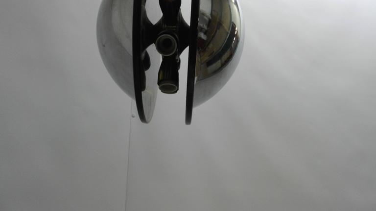 20th Century Circular Chandelier Fontana Arte Style For Sale