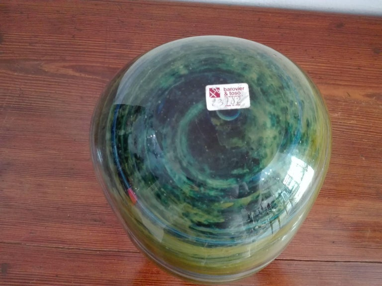 Art Deco Vase Murano Borovier and Toso For Sale