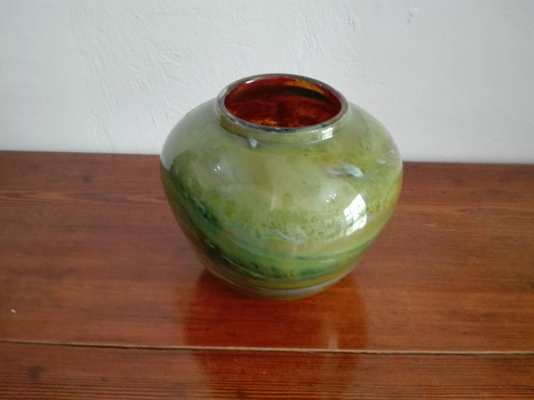 Carved Vase Murano Borovier and Toso For Sale