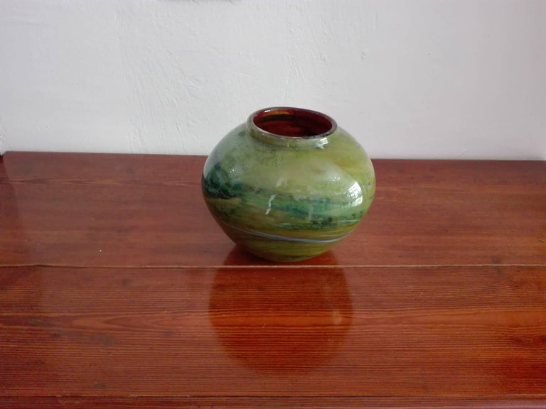 Mid-20th Century Vase Murano Borovier and Toso For Sale
