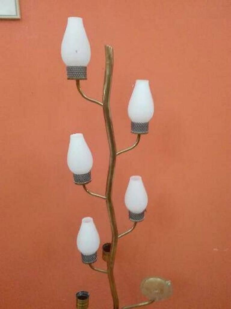 Brass Stilnovo Floor Lamp For Sale