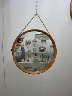 scandinavian circular wall mirror of a & östen kristiansson for luxus - 60s