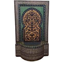 "Moroccan ""Tree of Life"" Mosaic Fountain, All Handmade"