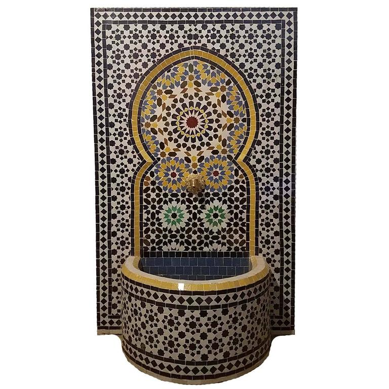 Meknes Moroccan Mosaic Fountain, All Mosaics For Sale