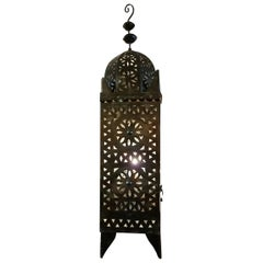 All Metal Moroccan Lantern in Tower Style
