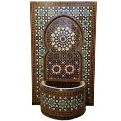 Tangiers Style Moroccan Fountain -Mosaic Tiles
