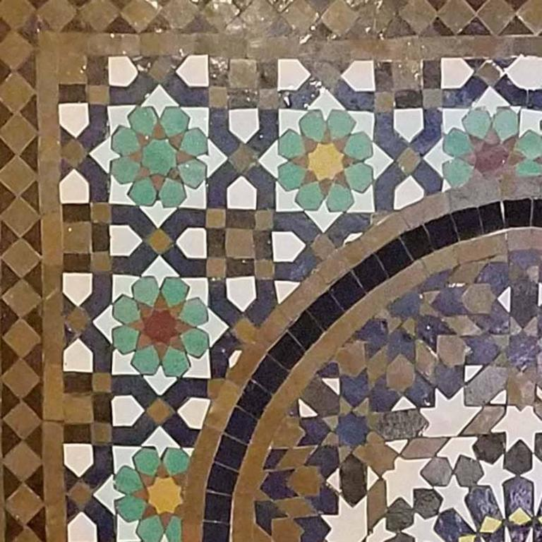 Moorish Tangiers Style Moroccan Fountain -Mosaic Tiles For Sale
