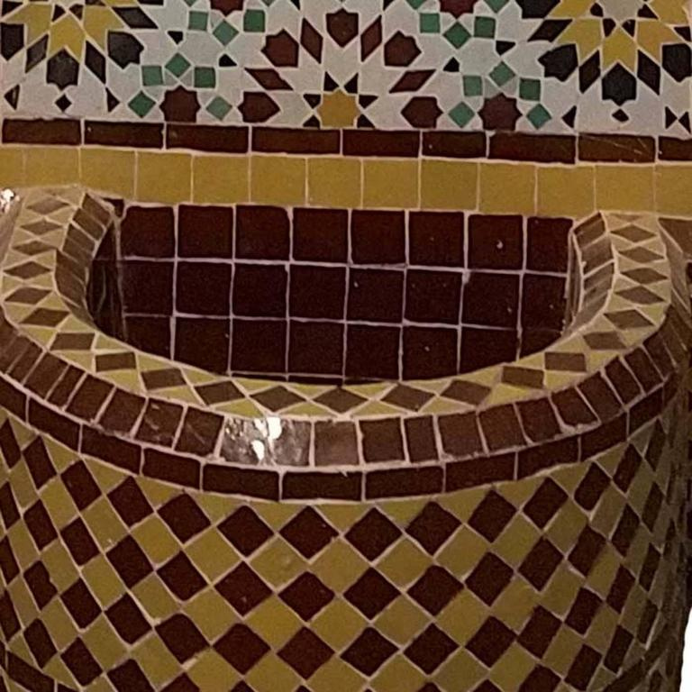 Bella Mosaic Tile Fountain, All Glazed In Excellent Condition For Sale In Orlando, FL