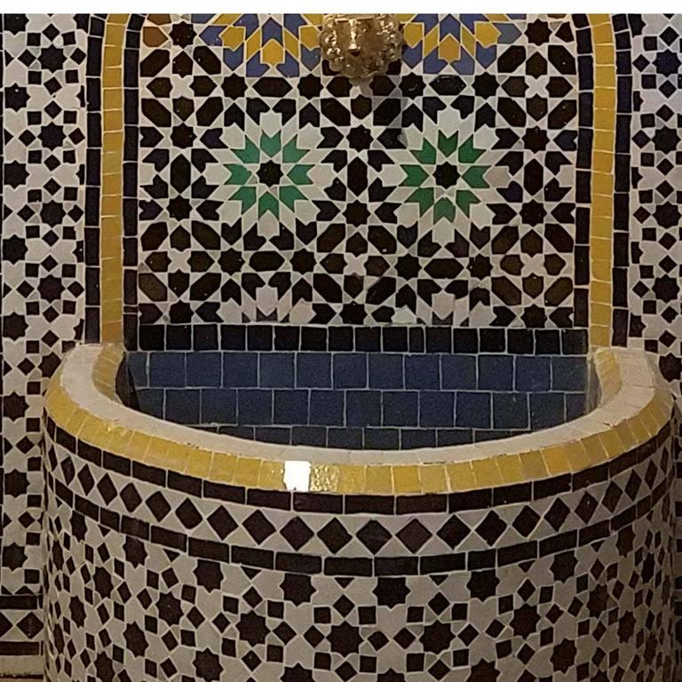 Contemporary Meknes Moroccan Mosaic Fountain, All Mosaics For Sale