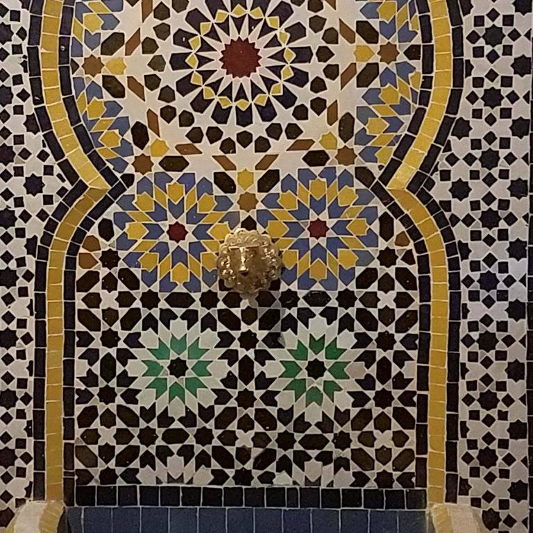 Meknes Moroccan Mosaic Fountain, All Mosaics For Sale 1