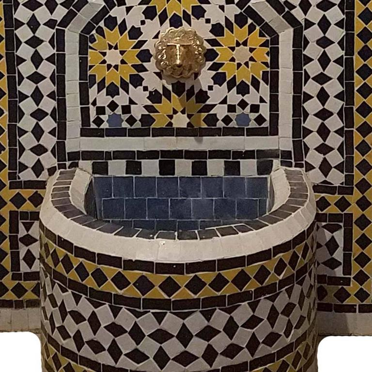 Moroccan Tazia Mosaic Fountain, All Handmade 2