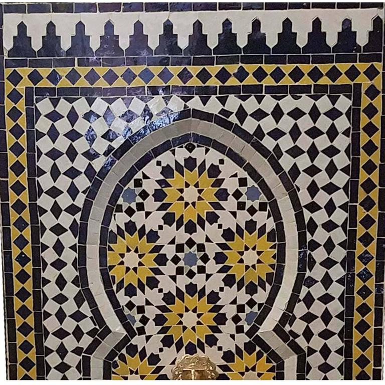 Moroccan Tazia Mosaic Fountain, All Handmade 3